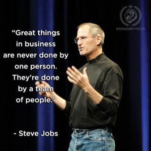Steve Jobs on Teams